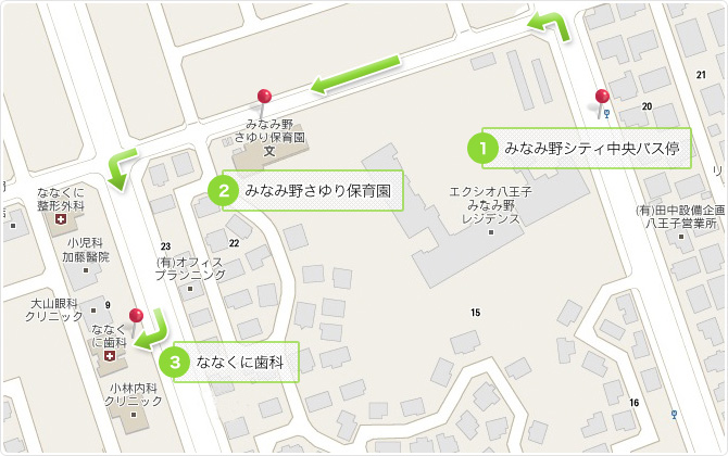 バス用の地図